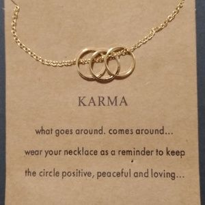 2 for $20 💎 Triple Gold Hoop Karma Necklace